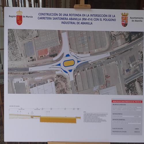 Inaugurada nueva rotonda del Polígono Industrial El Semolilla de Abanilla 1